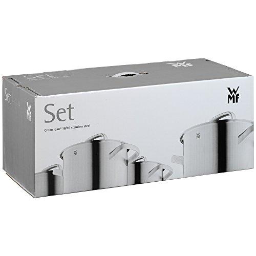 WMF Topf-Set 5-teilig Intension Schüttrand Glasdeckel Cromargan® Edelstahl poliert induktionsgeeignet spülmaschinengeeignet - 8