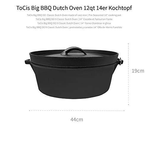 Big-BBQ DO 12.0 Dutch-Oven Gusseiserner Topf - 2