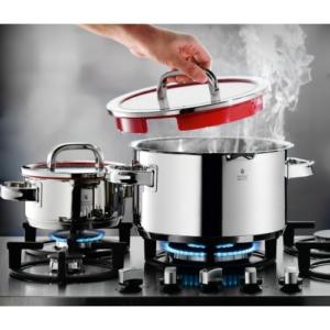 WMF Topf-Set 4-teilig Function 4, Cromargan®, Edelstahl poliert, induktionsgeeignet, spülmaschinengeeignet